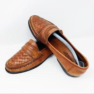 Deer Stags Men's 9.5US Woven Brown Loafer
